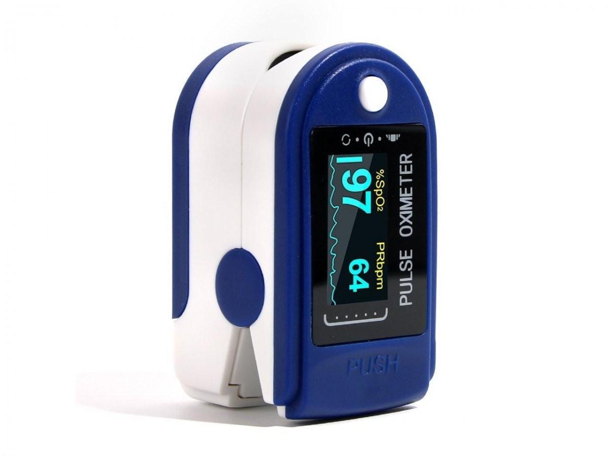 Pulsoximetru cu display, pentru masurare puls si oxigenul din sange, baterii incluse +cadou imagine techstar.ro 2021