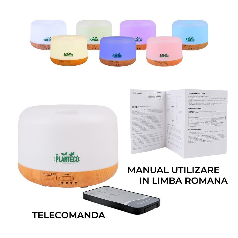 Difuzor Aromaterapie cu telecomanda,300 ml,Planteco