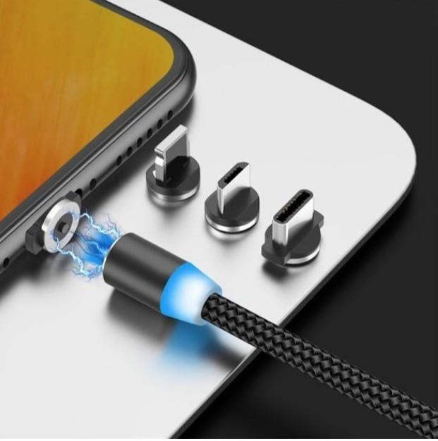 Cablu de incarcare si date 3 in 1 universal magnetic, X-CABLE, 1 metru, argintiu imagine techstar.ro 2021