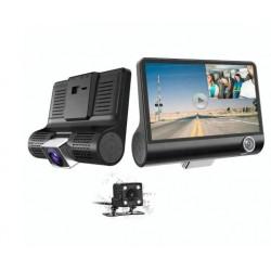 """Camera Video Auto Tripla Blackbox, Full-HD, 3 Camere - Fata/Spate/Interior, Display 4"""", G Senzor, 170 Grade"""