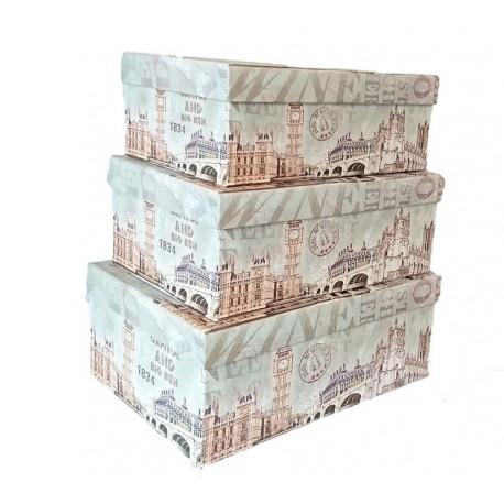 Set De 3 Cutii pentru Depozitarea Bijuteriilor Big Ben WZ793