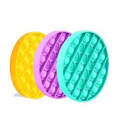 Set 3 Bucati Push Bubble Fidget Jucărie senzorială, Autismul are nevoie specială de detensionare ROTUND