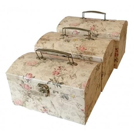 Set De 3 Cutii pentru Depozitarea Bijuteriilor Diplomat