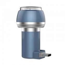 Aparat de Ras Techstar® VSH101, Lama Dubla, Portabil, USB Type-C, Gri