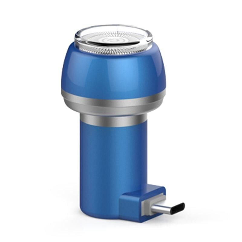 Aparat de Ras Techstar® VSH101, Lama Dubla, Portabil, USB Type-C, Albastru poza 2021