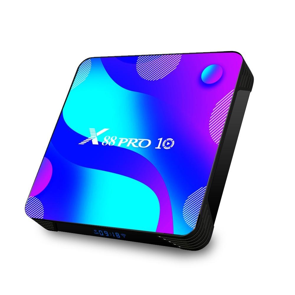 Media player TV Box X88 PRO 10 Android 10, 4GB RAM,32GB ROM, Mini PC 4K, Netflix subtitrat, Zoom imagine techstar.ro 2021