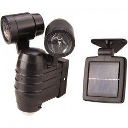 Proiector LED dublu cu incarcare solara Evotools HGT, senzor miscare, 8W, 400 lm, A+, 6500K, IP44, acumulator
