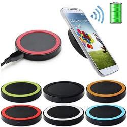 Incarcator wireless universal Qi rosu cu negru