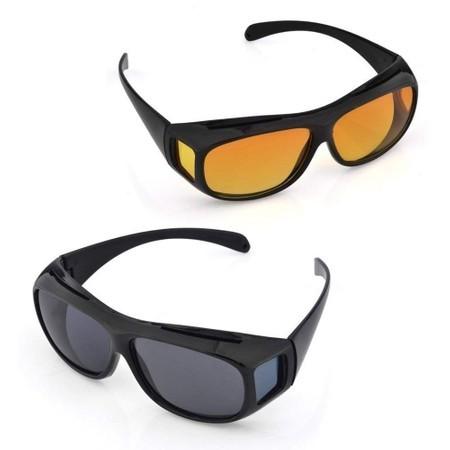 Set Ochelari pentru Condus, ziua/noaptea, Protectie UV, HD VISION, unisex, 2 perechi imagine techstar.ro 2021