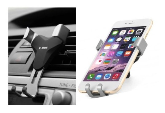 Suport AUTO universal V-MMS pentru Telefoan, Prindere in grila de aerisire + CADOU imagine techstar.ro 2021