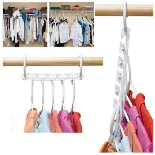 Set 10 Organizatoare haine, pentru 50 Umerase imagine techstar.ro 2021