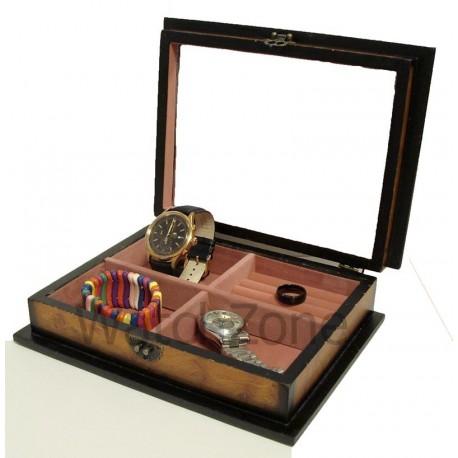 Caseta bijuterii din lemn - Rose WZ893