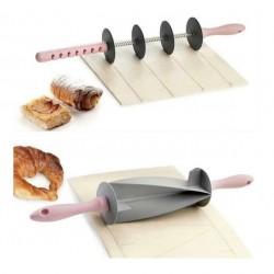 Aparat taiat aluatul Roller Blade + Sucitor aluat Croissant Cutter