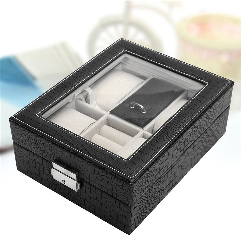 Caseta pentru Bijuterii si ceasuri Neagra WZ914