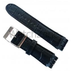 Curea ceas piele naturala Swatch 26mm Neagra