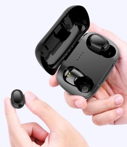 Casti Wireless, Bluetooth, L21, Calitate premium, Extra-bass, Claritate 3D Sound. Negru
