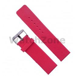 Curea ceas silicon rosie 22mm