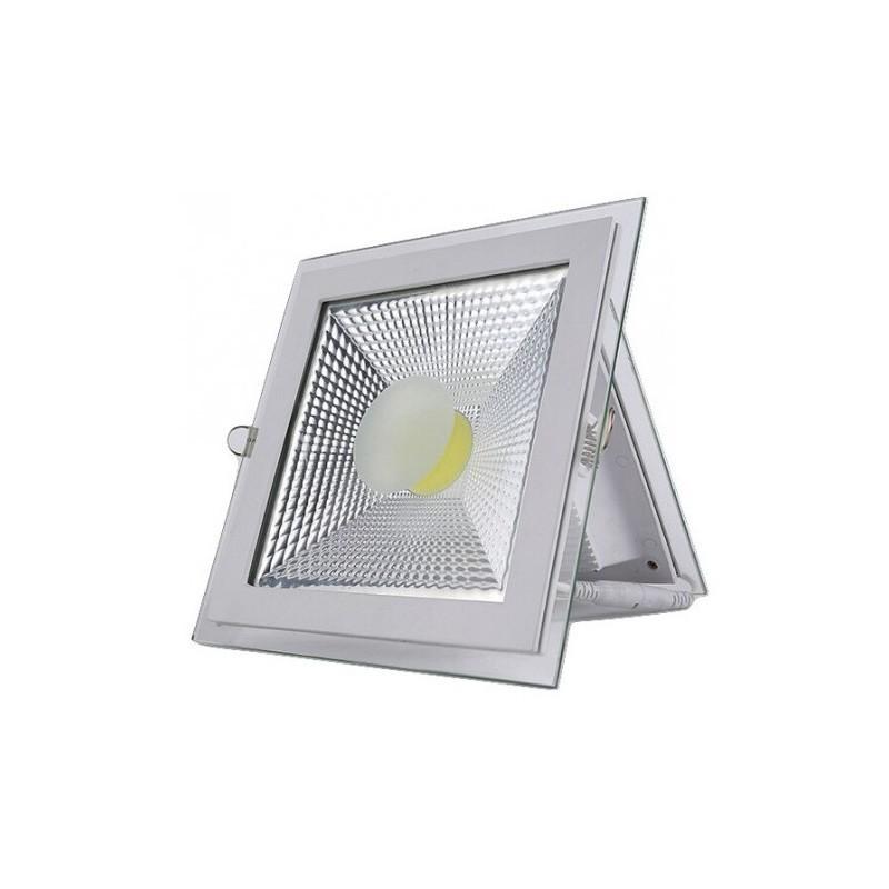 Spot LED 5W Patrat COB Sticla lumina rece calitate premium 220v poza 2021