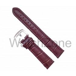 Curea ceas maro din piele naturala marime XL 20mm 24mm