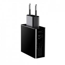 Incarcator Techstar® 3 Porturi USB, 3A, Afisare LED Voltaj, Amperaj, Universal