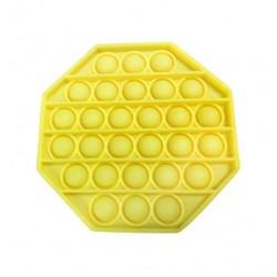 Jucarie senzoriala , Pop It, Antistres, Autismul are Nevoie Speciala de Detensionare, Hexagon, Galben
