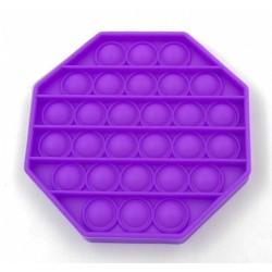 Jucarie senzoriala , Pop It, Antistres, Autismul are Nevoie Speciala de Detensionare, Hexagon, Mov
