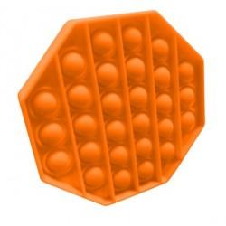 Jucarie senzoriala , Pop It, Antistres, Autismul are Nevoie Speciala de Detensionare, Hexagon, Portocaliu