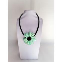 Colier Dama, Pandantiv Forma de Floare, cu Sidef Verde