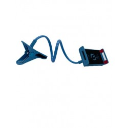 Suport Brat Flexibil Pentru Telefon, Rotire 360 ,Prindere Clema,Albastru