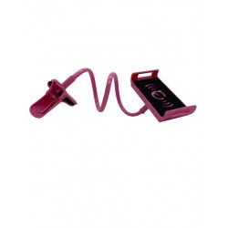 Suport Brat Flexibil Pentru Telefon, Rotire 360 ,Prindere Clema,Roz