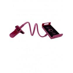 Suport flexibil, cu clema, pentru telefon, Roz,Calitate Premium