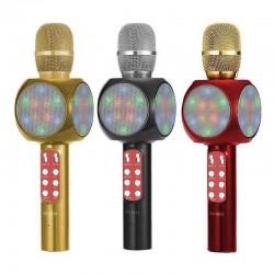 Microfon Karaoke Disco LED Wireless HIFI