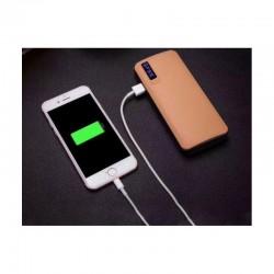 Baterie Externa Profesionala, Smart Power Bank 20000 mAh 3 x USB Out, Design Piele, Diverse Culori