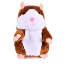 Jucarie Interactiva Hamster, din Plus, Repeta Sunetele, Maro