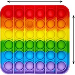 Bubble Fidget Jucărie Senzorială, Autismul Are Nevoie Specială De Detensionare Patrat Rainbow 12X12