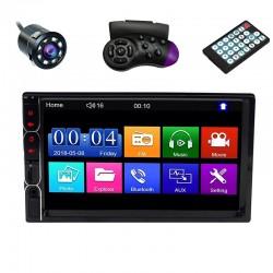 "MP5 Player Techstar® 7031, 2DIN, Camera Marsarier, Ecran HD Touch 7"", Comenzi Volan, Telecomanda, MirrorLink, Bluetooth 4.2"