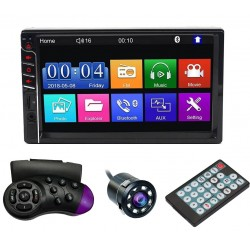 "MP5 Player Techstar® 7033, 2DIN, Camera Marsarier, Ecran HD Touch 7"", Comenzi Volan, Telecomanda, MirrorLink, Bluetooth 4.2"
