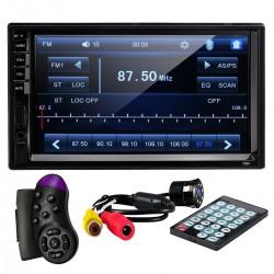 "MP5 Player Techstar® 7034, 2DIN, Camera Marsarier, Ecran HD Touch 7"", Comenzi Volan, Telecomanda, MirrorLink, Bluetooth 4.2"
