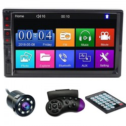 "MP5 Player Techstar® 7032, 2DIN, Camera Marsarier, Ecran HD Touch 7"", Comenzi Volan, Telecomanda, MirrorLink, Bluetooth 4.2"