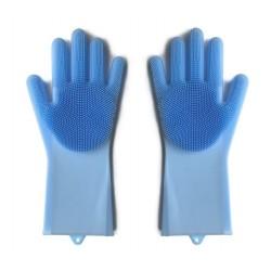 Set manusi de silicon pentru bucatarie, cu peri din siliconi pentru spalat vasele si protejarea mainilor