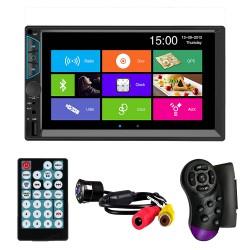 "MP5 Player Techstar® 7060, 2DIN, Camera Marsarier, Ecran HD Touch 7"", Comenzi Volan, Telecomanda, MirrorLink, Bluetooth 4.2"