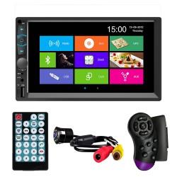 "MP5 Player Techstar® 7062, 2DIN, Camera Marsarier, Ecran HD Touch 7"", Comenzi Volan, Telecomanda, MirrorLink, Bluetooth 4.2"