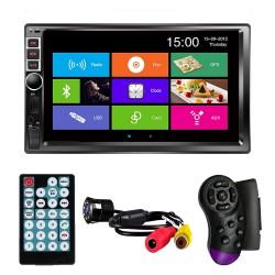 "MP5 Player Techstar® 7016, 2DIN, Camera Marsarier, Ecran HD Touch 7"", Comenzi Volan, Telecomanda, MirrorLink, Bluetooth 4.2"
