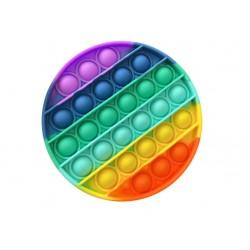 Push Bubble Fidget Jucarie Senzoriala, Autismul Are Nevoie Speciala De Detensionare, Rotund, Curcubeu + CADOU