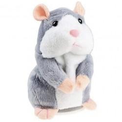 Jucarie Interactiva Hamster, din Plus, Repeta Sunetele, Gri