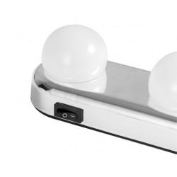 Lampa portabila, make up, Studio Glow cu 4 LED si ventuze
