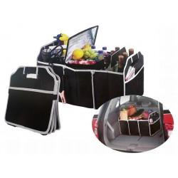 Organizator Auto ,pentru Portbagaj,Pliabil, 3 Compartimente Mare, 2 Buzunare ideal si pentru Cumparaturi 25 kg