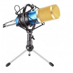 Microfon Profesional Karaoke BM80, si Inregistrare Vocala, Gold Negru
