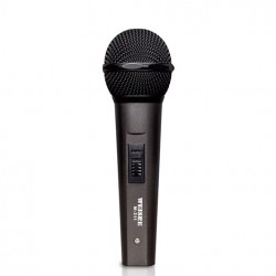 Microfon Profesional WEISRE M311, Karaoke, Scena, Cablu 5m, Metalic