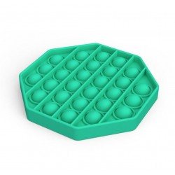 Jucarie senzoriala , Pop It, Antistres, Autismul are Nevoie Speciala de Detensionare, Hexagon, Verde